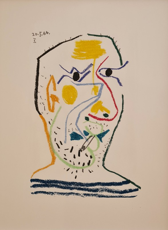 Pablo Picasso, Face of a man I, 1964, 1970