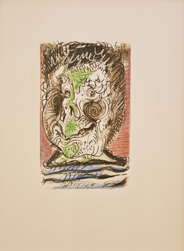 Pablo Picasso, Face of a man III, 64., 1970
