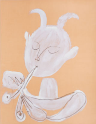 Pablo Picasso, Faun playing flute, 1946, 1960