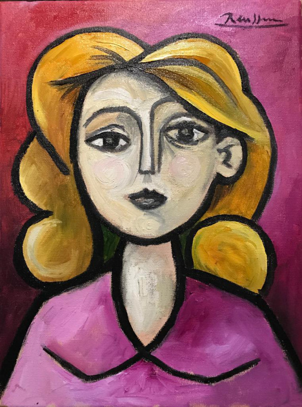 Erik Renssen, Girl with blond hair, 2019