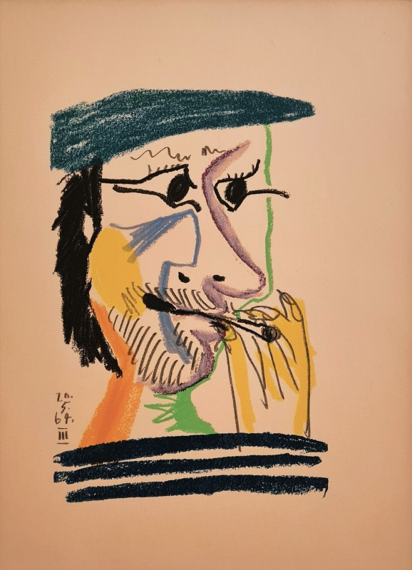 Pablo Picasso, Face of a man III, 64, 1970