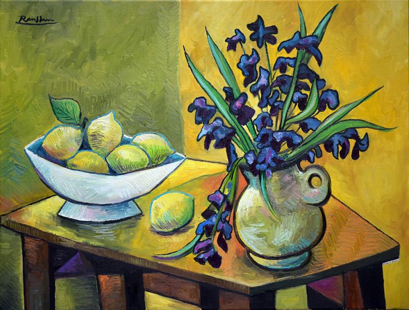 Erik Renssen, M/L / Flowers and Lemons, 2019