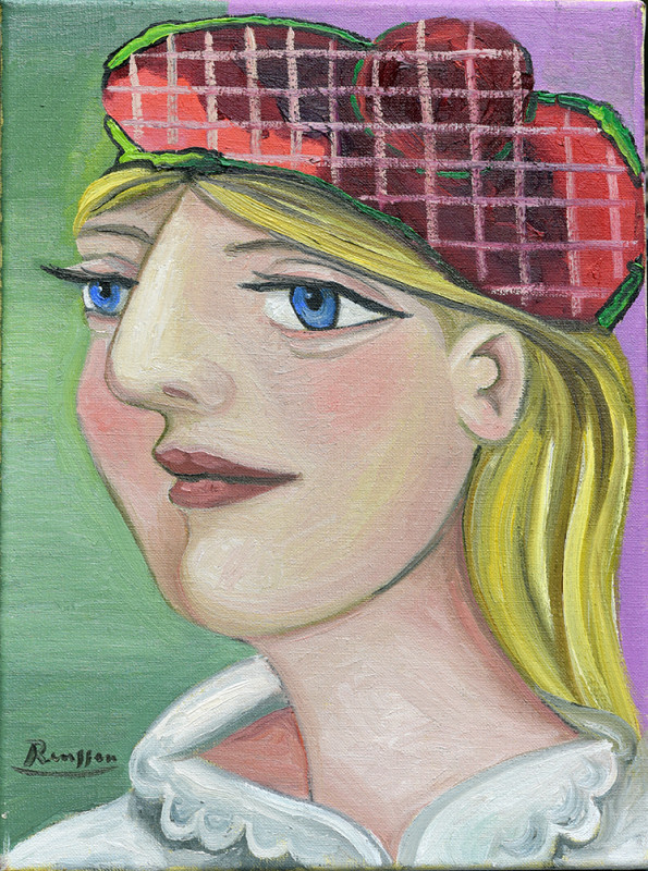 Erik Renssen, Size S | Girl in checkered baret, 2021