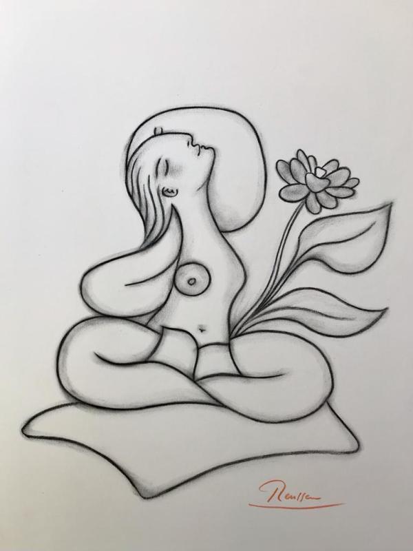 Erik Renssen, Size M | Lotus woman, 2021