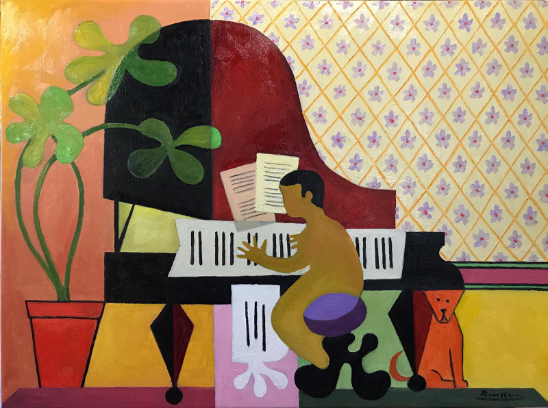 Erik Renssen, Skip behind the piano, 2019