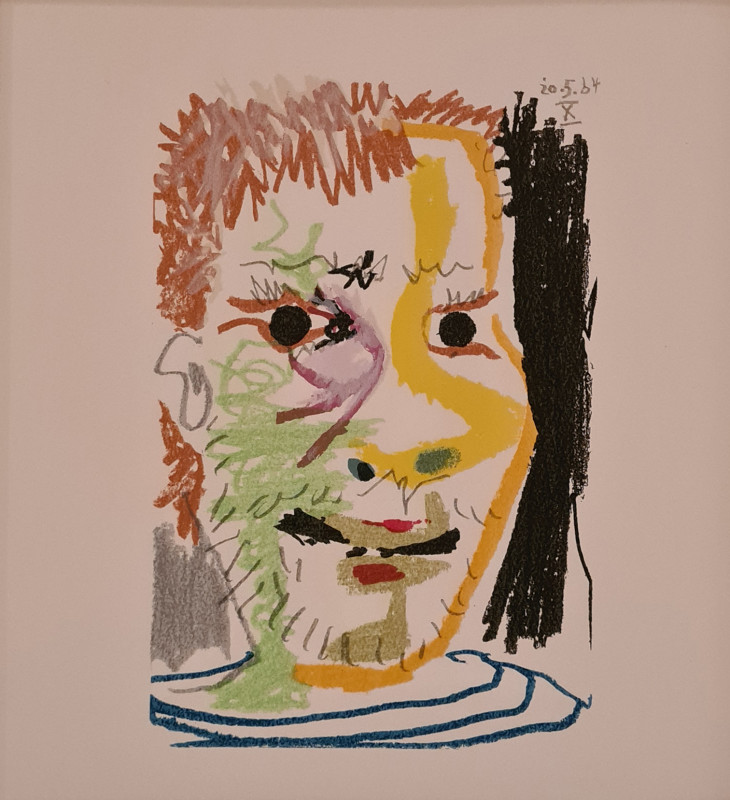 Pablo Picasso, Face of a man X, 1964, 1970