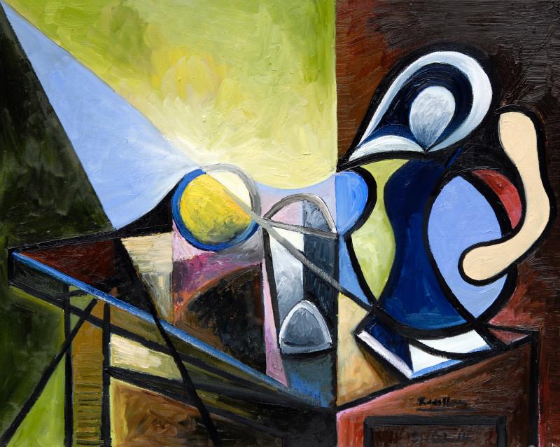 Erik Renssen, M / Pitcher, glass and lemon II, 2014