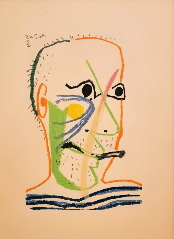 Pablo Picasso, Face of a man V, 64., 1970