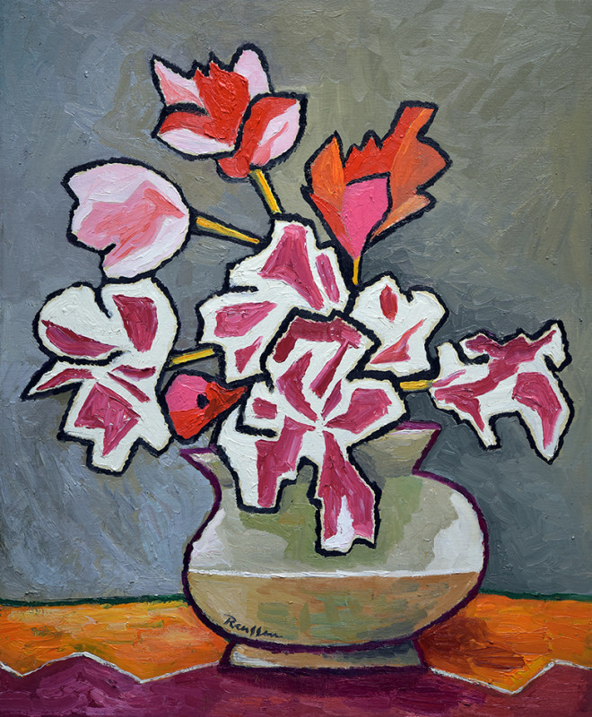 Erik Renssen, Flowers on a table, 2020