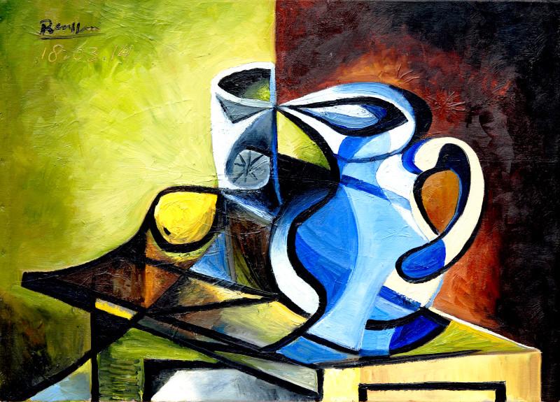 Erik Renssen, M / Pitcher, glass and lemon I, 2014