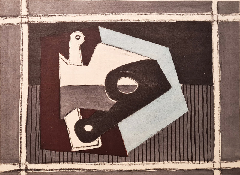 Pablo Picasso, Composition with pipe, 1920, 1955