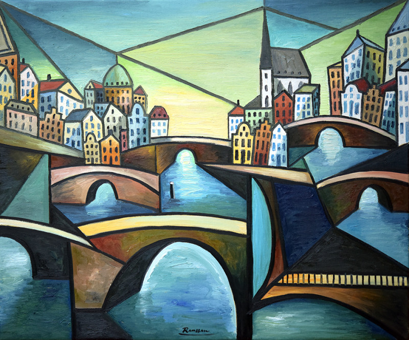 Erik Renssen, The bridges of Amsterdam (I), 2020