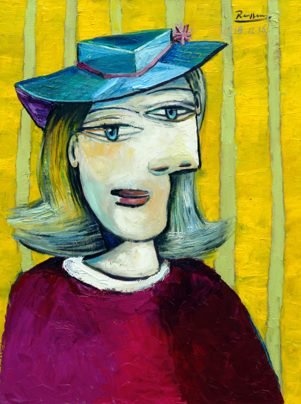 Erik Renssen, Woman with small hat, 2016