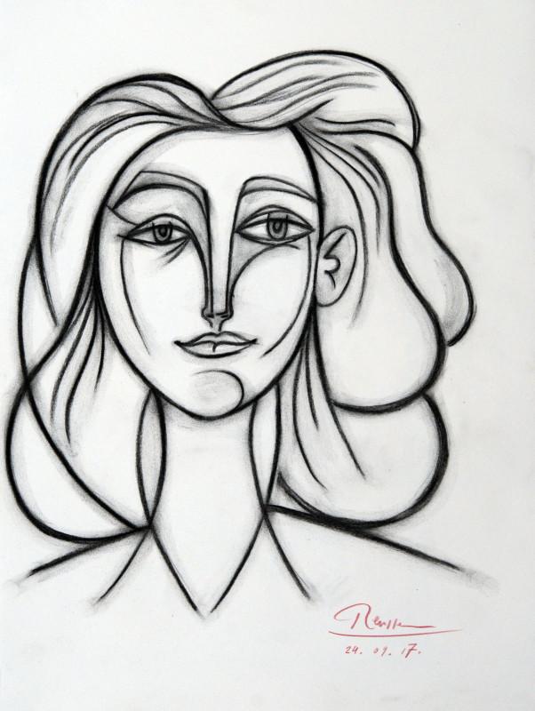 Erik Renssen, Size M | Face of a woman, 2017