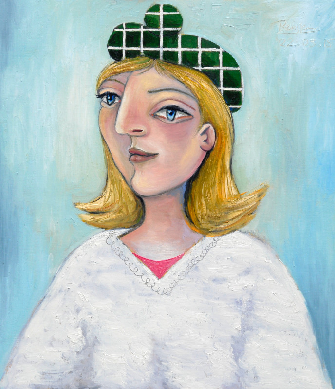 Erik Renssen, Girl in a green beret, 2015