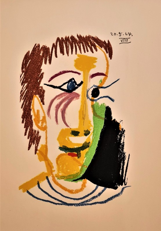 Pablo Picasso, Face of a man VIII, 64, 1970