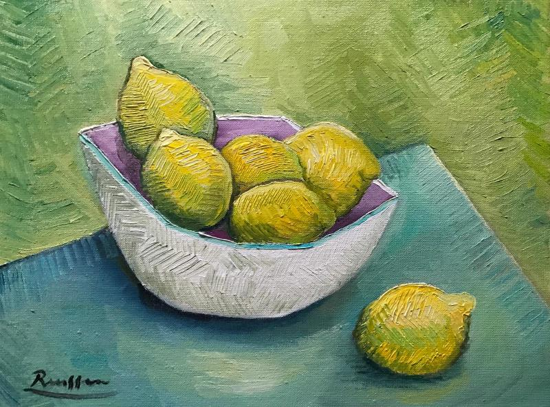 Erik Renssen, Lemons in fruit bowl, 2019