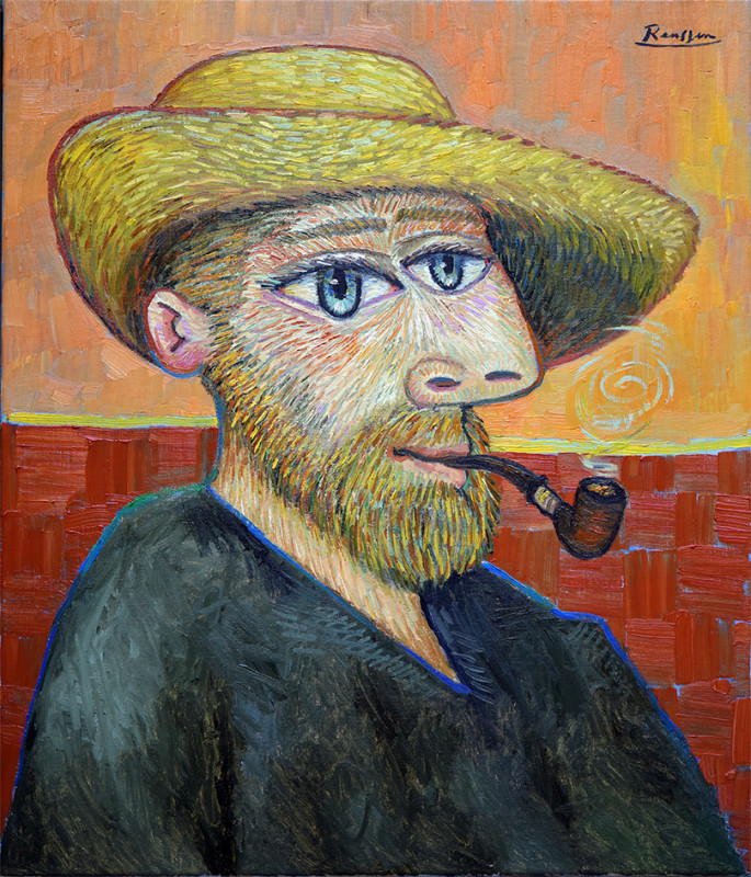Erik Renssen, Man with pipe, 2019
