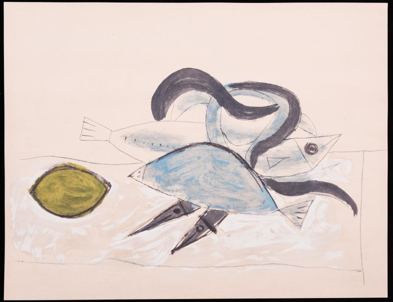 Pablo Picasso, Fishes and lemons, 1960