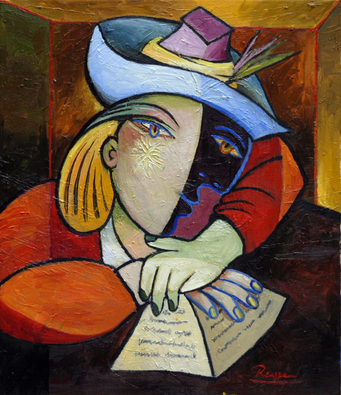 Erik Renssen, Woman reading a letter, 2016