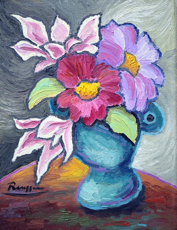 Erik Renssen, Flowers on a table, 2020