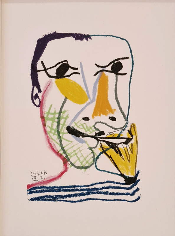 Pablo Picasso, Face of a man IV, 1964, 1970