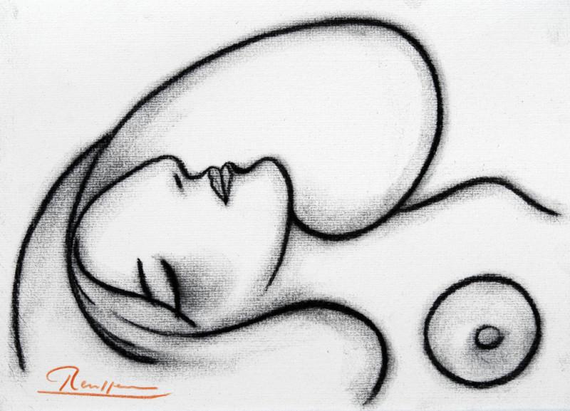 Erik Renssen, Sleeping nude, 2018