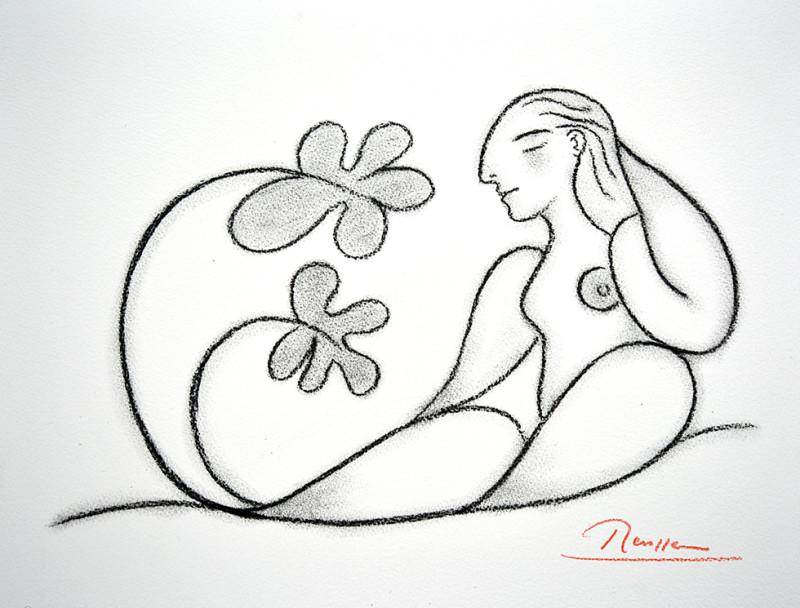 Erik Renssen, Sitting Nude, 2019