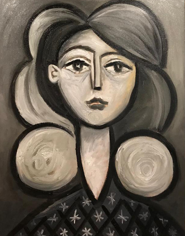 Erik Renssen, Face of a young woman, 2019