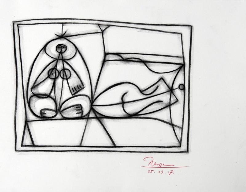 Erik Renssen, Size S | Two nudes, 2017