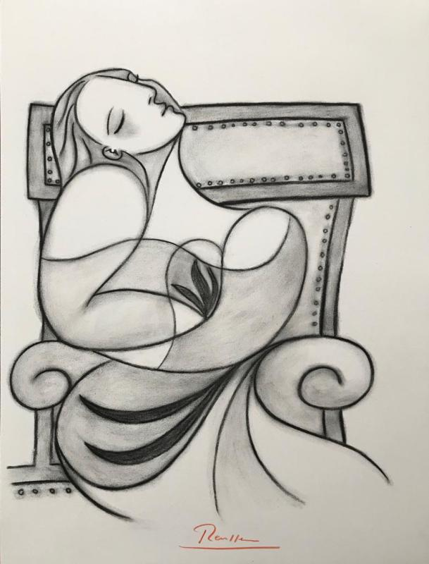 Erik Renssen, Seated woman, 2018