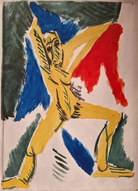Pablo Picasso, Studio par les demoiselles D'Avignon, 1907, 1955