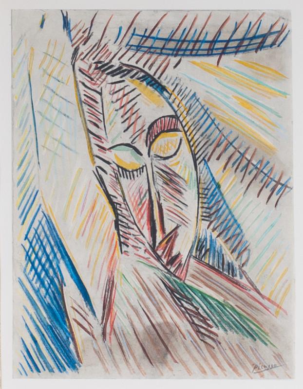 Pablo Picasso, Head, 1907, 1955