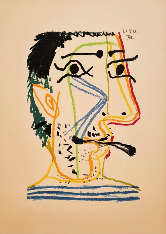 Pablo Picasso, Face of a man VI, 64., 1970