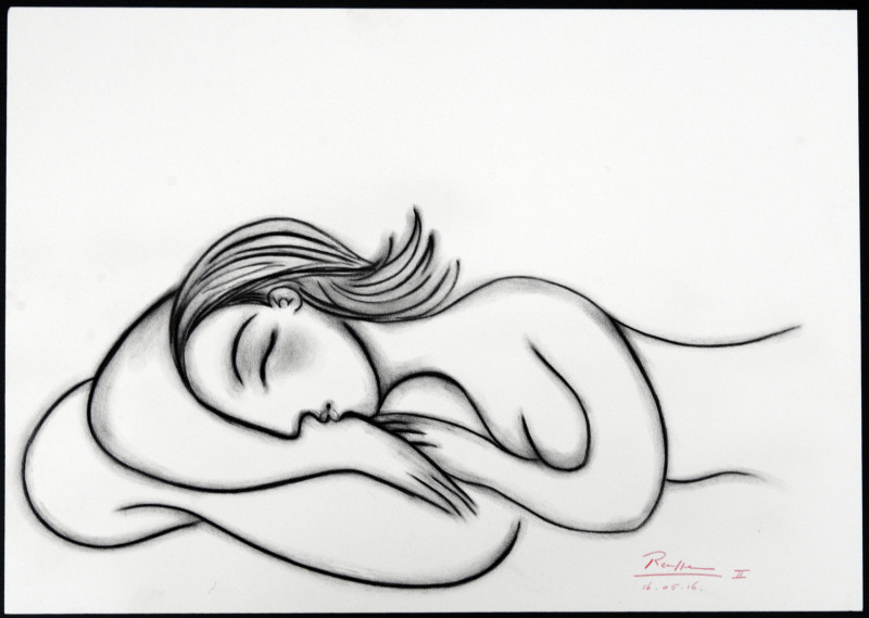 Erik Renssen, Sleeping nude IV, 2016