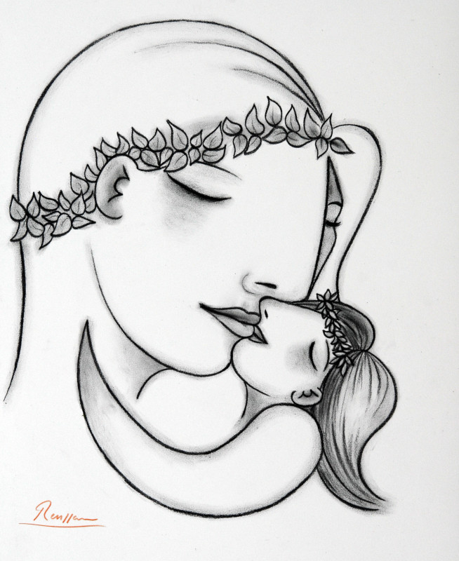 Erik Renssen, Mother & child VI, 2018