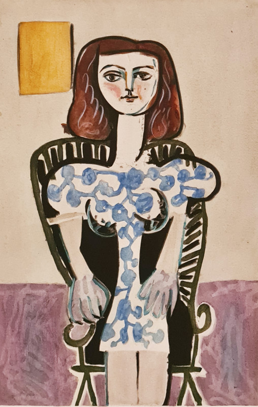 Pablo Picasso, Seated girl, 1946, 1955