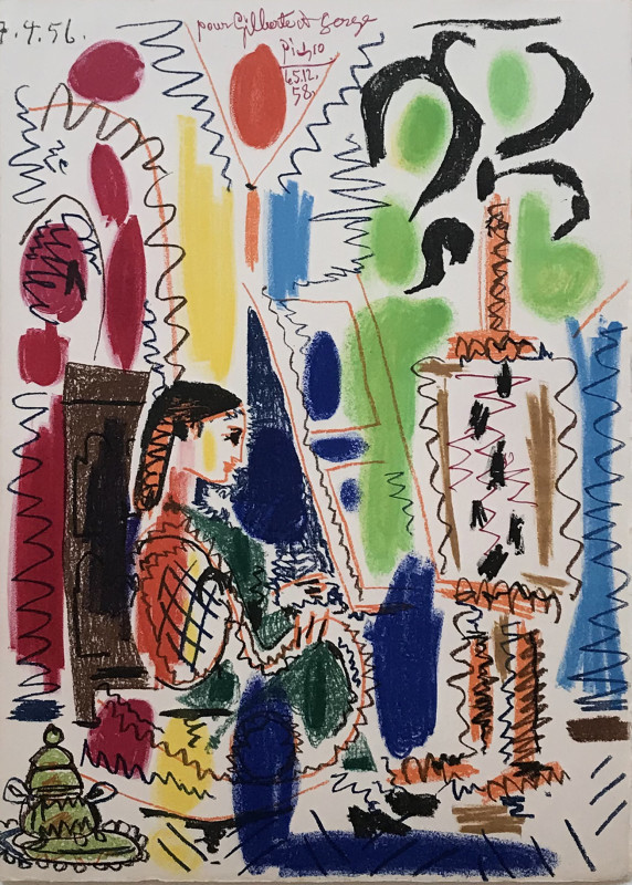 Pablo Picasso, The Cannes studio (second state), 1958