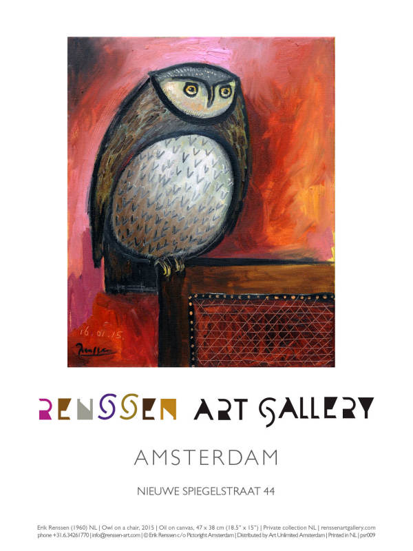 Erik Renssen, Owl on a chair, 2015, 2019