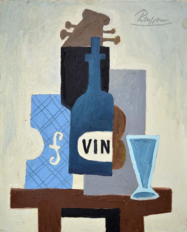 Erik Renssen, Still life with instruments and bottle, 2020
