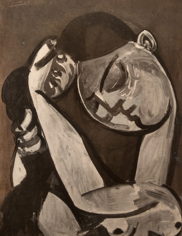 Pablo Picasso, Woman combing her hair, 1955, 1956