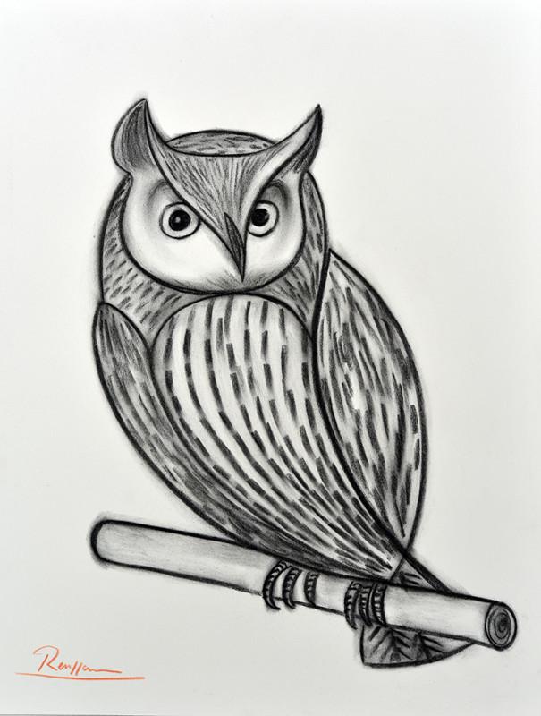 Erik Renssen, Long eared owl, 2020