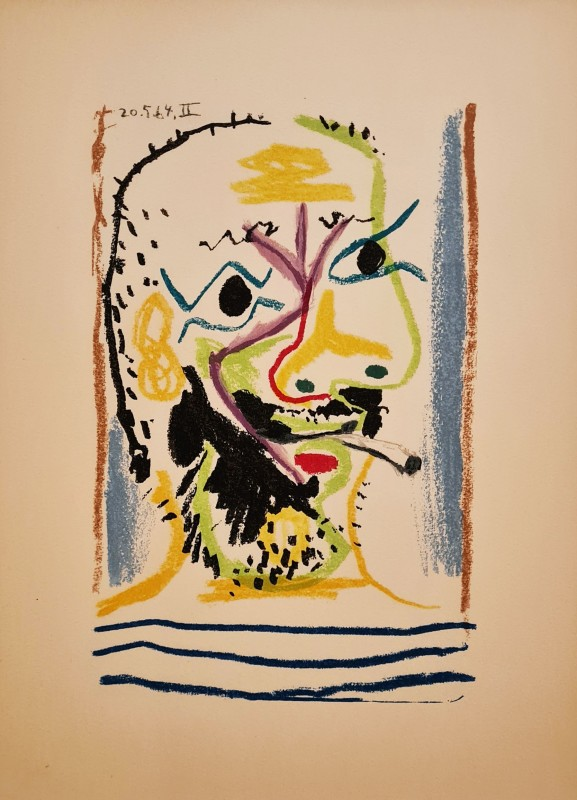 Pablo Picasso, Face of a bearded man II, 1964, 1970