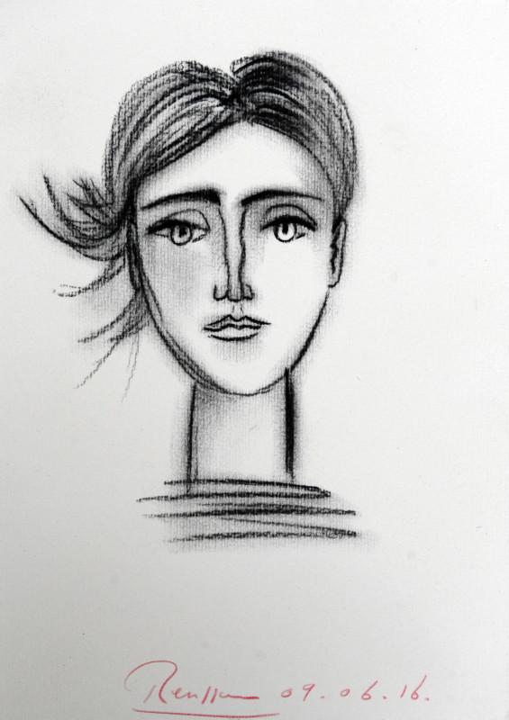 Erik Renssen, Face of a young woman, 2016