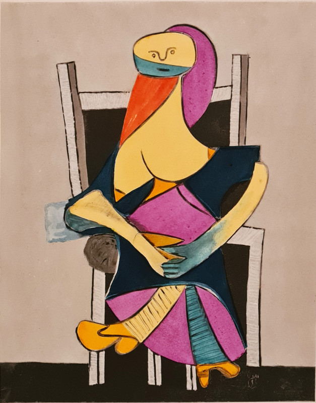 Pablo Picasso, Seated woman, 1938, 1955