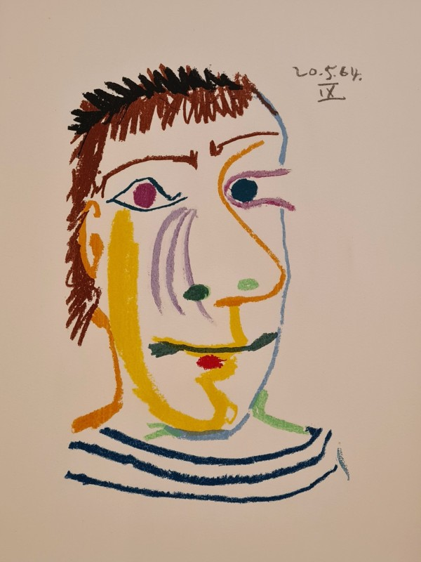 Pablo Picasso, Face of a man IX, 64, 1970