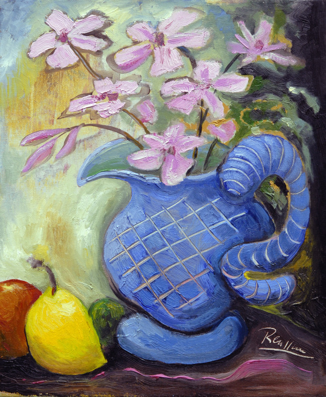 Erik Renssen, Fruit and pitcher with flowers | edition of 10, 2015