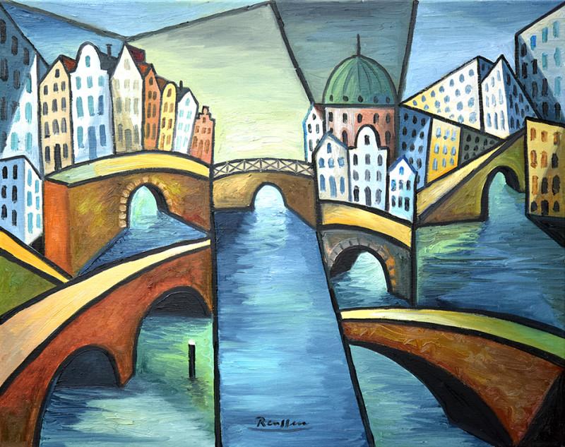 Erik Renssen, The bridges of Amsterdam (II), 2020