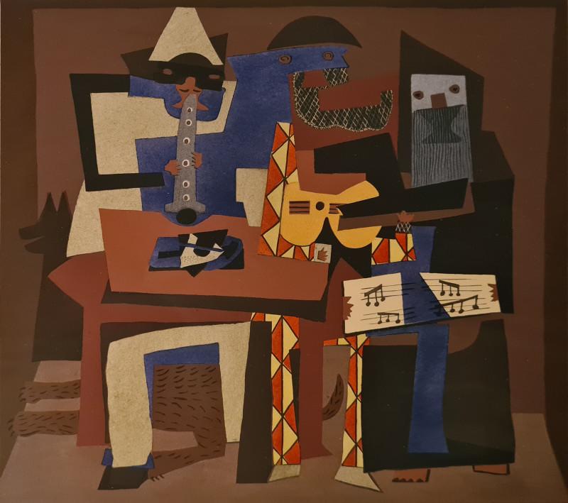 Pablo Picasso, Three musicians, 1921, 1930
