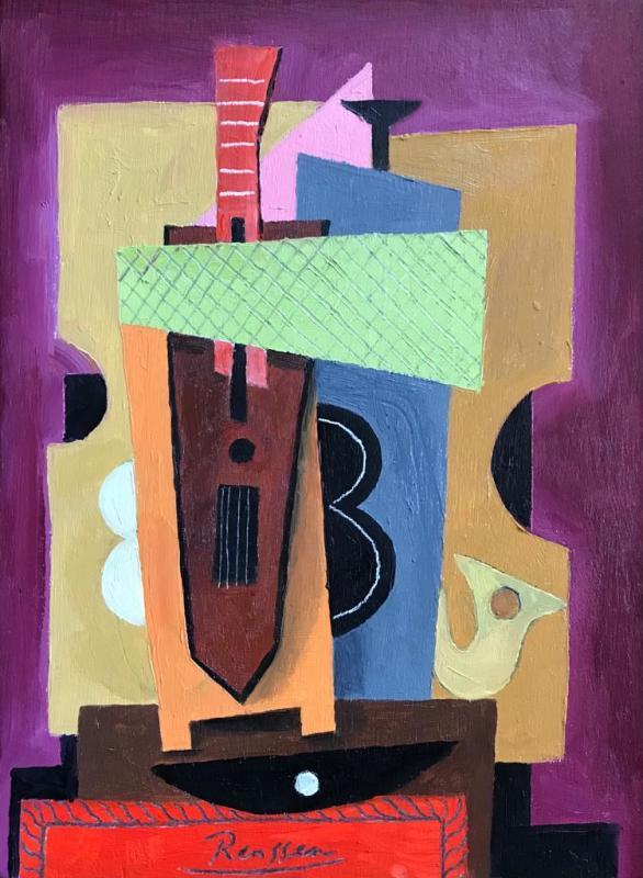 Erik Renssen, Still life with instruments, 2021